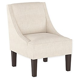 Skyline Furniture Dorie Swoop Arm Chair in Talc