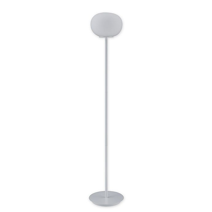 Alternate image 1 for Southern Enterprises® Fiona Floor Lamp in White with Opaque White Glass Globe Shade