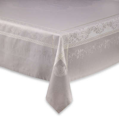 Garnier-Thiebaut Perce-Neige Damask Tablecloth