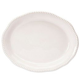 Modern Farmhouse Home Turkey 21-Inch Oval Platter in White