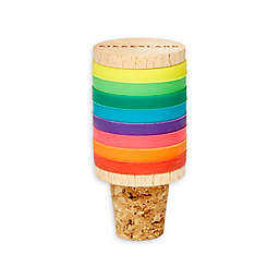 Kikkerland® 9-Piece Rainbow Drink Marker and Bottle Stopper Set