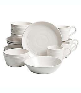 Vajilla de cerámica Milbrook Bee & Willow™ Home color blanco, Set de 16 piezas