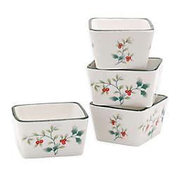 Pfaltzgraff® Winterberry Square Condiment/Dip Bowls (Set of 4)