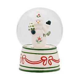 Pfaltzgraff® Winterberry Snowman 5.31-Inch LED Snow Globe