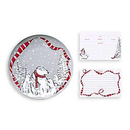 Vera Bradley® Beary Merry Cookie Plate in Grey