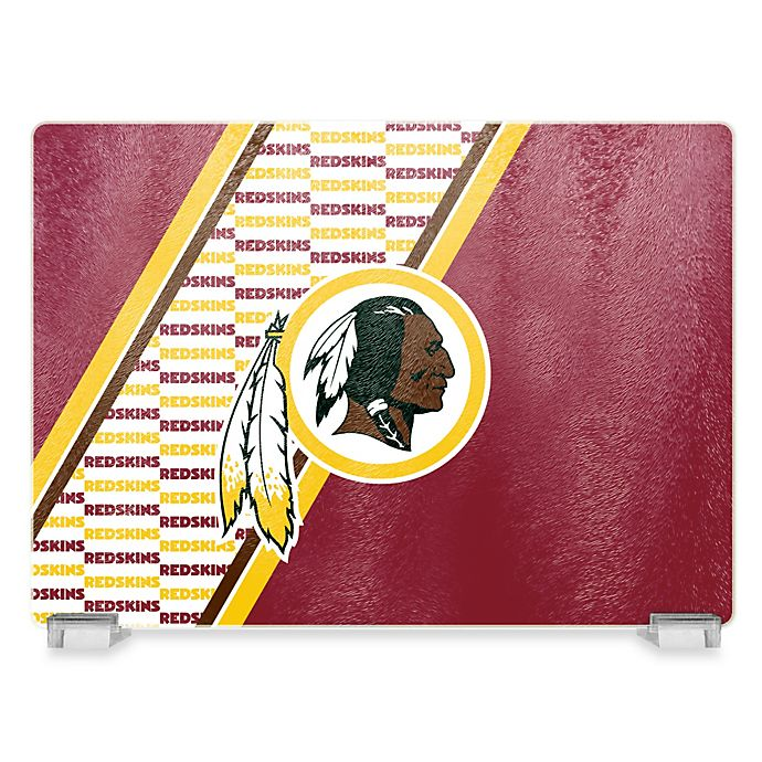 Alternate image 1 for NFL Washington Redskins Tempered Glass Cutting Board