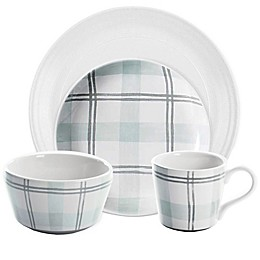 Bee & Willow™ Home Milbrook Dinnerware and Serveware Collection in Green Plaid