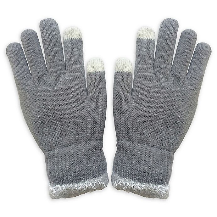 Alternate image 1 for Isaac Mizrahi Knit Women's Gloves with Touch Tips