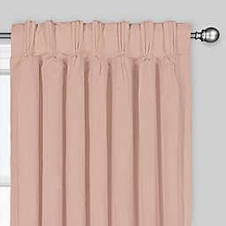 Tucson 63-Inch Pinch Pleat/Back Tab Window Curtain Panel in Blush (Single)