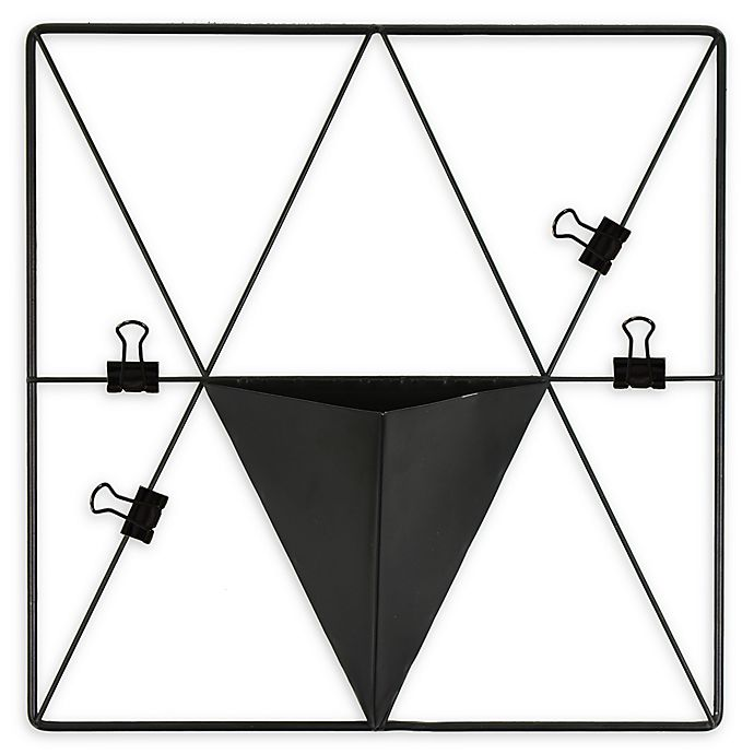 Alternate image 1 for WALL POPS! Metal Triangle Grid Pocket Wall Organizer