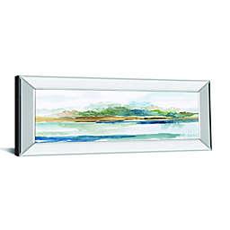 Blue Solace 42-Inch x 18-Inch Mirror Framed Wall Art