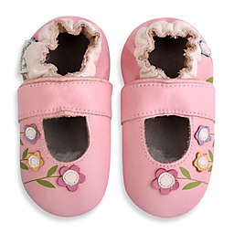 MomoBaby Soft Sole Leather Lilies Mary Jane in Pink