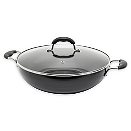STARFRIT Jumbo Nonstick 13.5-Inch Aluminum Covered Wok in Dark Grey