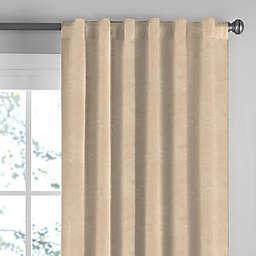Suede Rod Pocket/Back Tab Window Curtain Panel