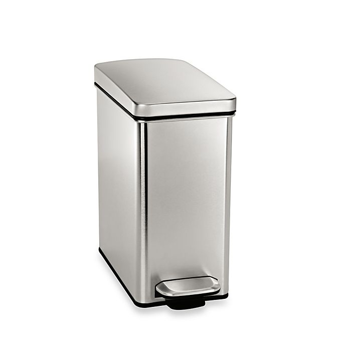 Alternate image 1 for simplehuman® 10-Liter Profile Step Wastebasket