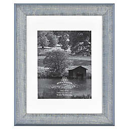 Bee & Willow™ Home 8-Inch x 10-Inch Matted Wood Picture Frame in Blue
