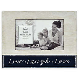"""Prinz 6-Inch x 8-Inch """"Live Laugh Love"""" Picture Frame in Grey"""