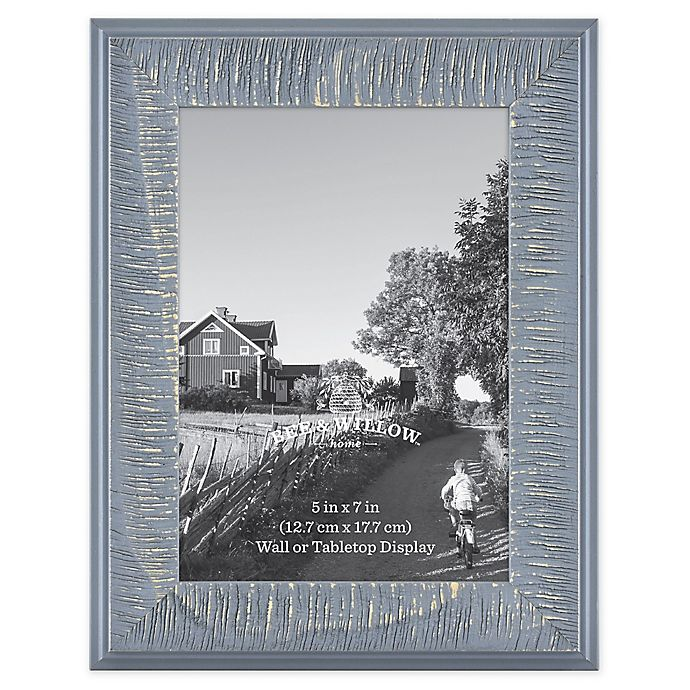 Alternate image 1 for Bee & Willow™ Home 5-Inch x 7-Inch Wooden Picture Frame in Blue