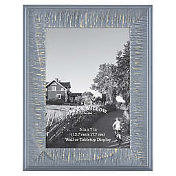 Bee & Willow™ Home 5-Inch x 7-Inch Wooden Picture Frame in Blue