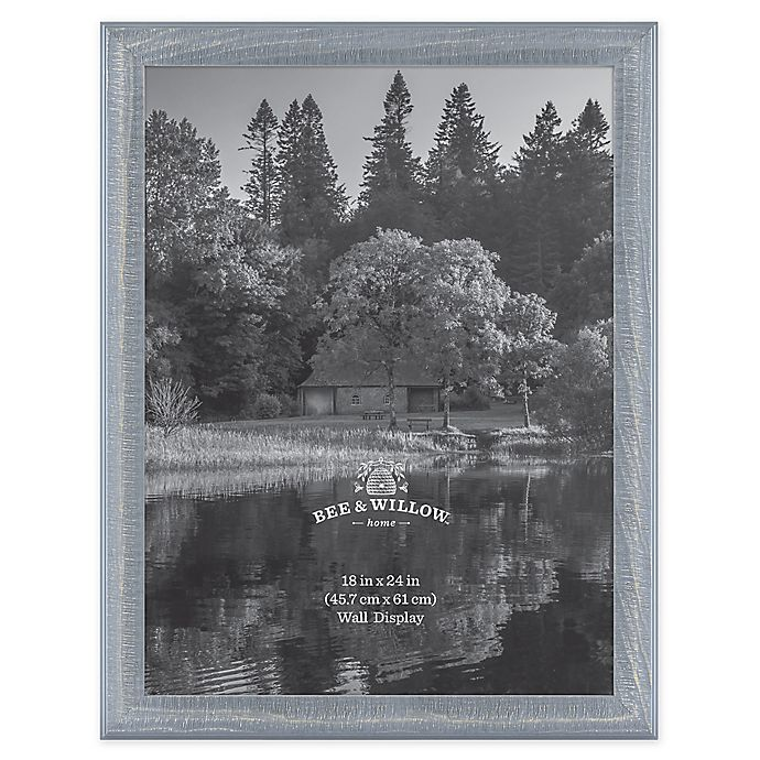 Alternate image 1 for Bee & Willow™ Home 18-Inch x 24-Inch Wooden Picture Frame in Blue