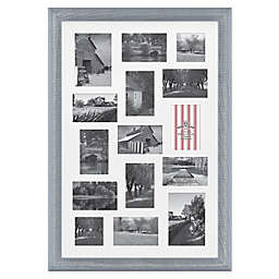 Bee & Willow™ Home 15 Photo Collage Matted Picture Frame in Blue