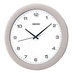 Seiko Curved Glass 11.75-Inch Wall Clock in Silver