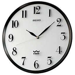 Seiko Radio Wave 12.25-Inch Wall Clock in Black