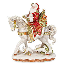 Fitz and Floyd® Damask Holiday Santa on Horse Figurine