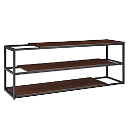 Holly & Martin® Decklan 3-Tier Industrial Media Stand in Black and Dark Tobacco