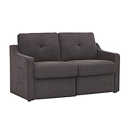Lifestyle Solutions® Layton Convertible Loveseat in Dark Brown