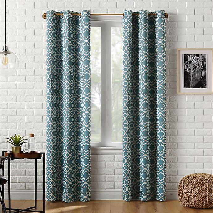 Alternate image 1 for Sun Zero™ Barnett Trellis Grommet Room Darkening Window Curtain Panel