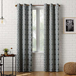 Sun Zero™ Barnett Trellis 63-Inch Grommet Room Darkening Window Curtain Panel in Grey