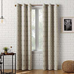 Sun Zero® Barnett Trellis 95-Inch Grommet Window Curtain Panel in Taupe