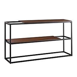 Holly & Martin® Decklan Sliding Shelf Console Table in Dark Tobacco