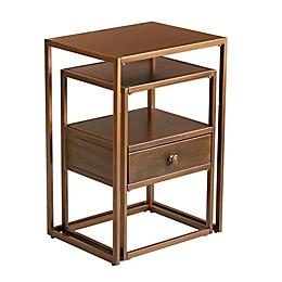 Southern Enterprises© Molera 2-Piece Nesting Accent Table Set in Brushed Brass