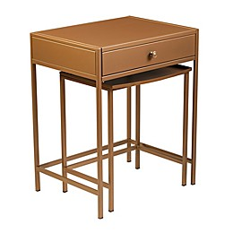 Southern Enterprises© Menteria 2-Piece Nesting Accent Table Set in Brass