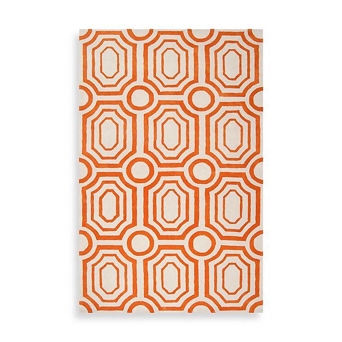 Alternate image 1 for angelo:HOME Hudson Park Geometric Rug 8-Foot x 10-Foot in Orange/White