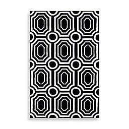 angelo:HOME Hudson Park Geometric Rug in Black/White