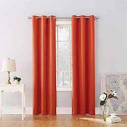 Sun Zero® Riley Kids Bedroom 63-Inch Grommet Room Darkening Window Curtain Panel in Orange
