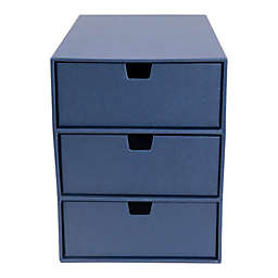 Ingrid 3-Drawer Supply Chest in Navy
