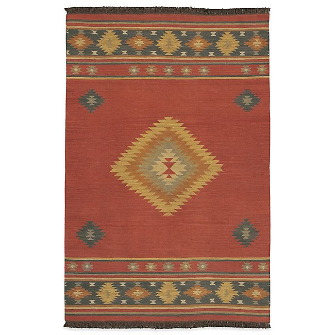Alternate image 1 for Surya Beja 8-Foot x 11-Foot Rug in Red Clay/Gold/Aquamarine