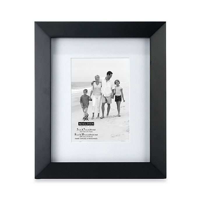 Alternate image 1 for Malden® Berkeley Matted 5-Inch x 7-Inch Picture Frame in Black