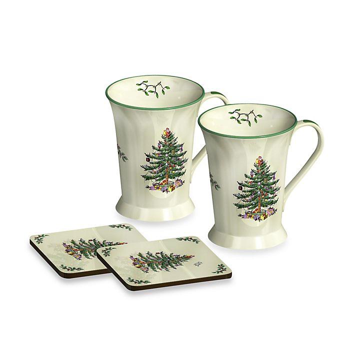 Alternate image 1 for Spode® Christmas Tree Mug and Coaster (Set of 2)