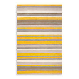 angelo:HOME Madison Square Striped Rug 3-Foot 3-Inch x 5-Foot 3-Inch in Citrine