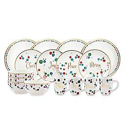 American Atelier Christmas Confetti 16-Piece Dinnerware Set