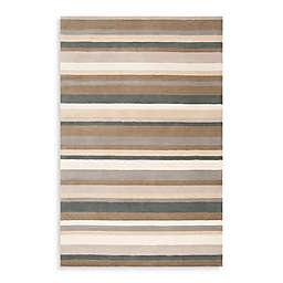 angelo:HOME Madison Square Striped Rug in Tan