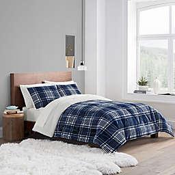 UGG® Avery 3-Piece Reversible King Comforter Set in Navy Plaid