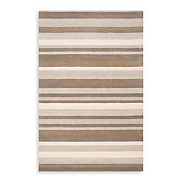 angelo:HOME Madison Square Striped Rug in Grey
