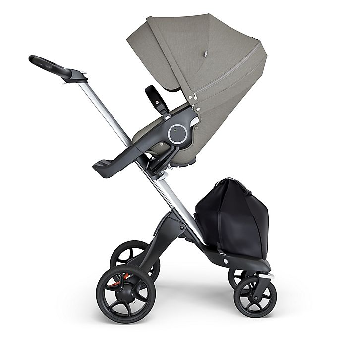 Alternate image 1 for Stokke® Xplory® Stroller in Brushed Grey with Silver Frame and Black Handle