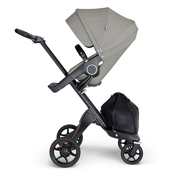 Alternate image 1 for Stokke® Xplory® Stroller with Silver Frame and Black Handle